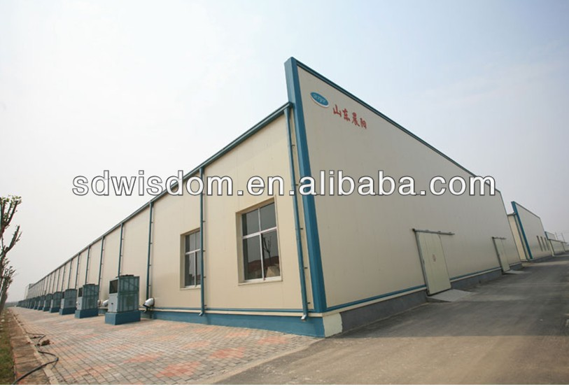 light prefab metal steel structure plant construction building