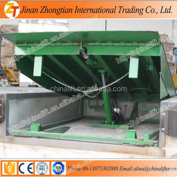 ZHONGTIAN Dock leveler warehouse ramp stationary adjustment height truck dock leveler electric hydraulic dock ramp with truck