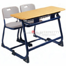 double student desk and chair set cheap classroom furniture