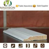 Large finger joint wood baseboard molding shapes