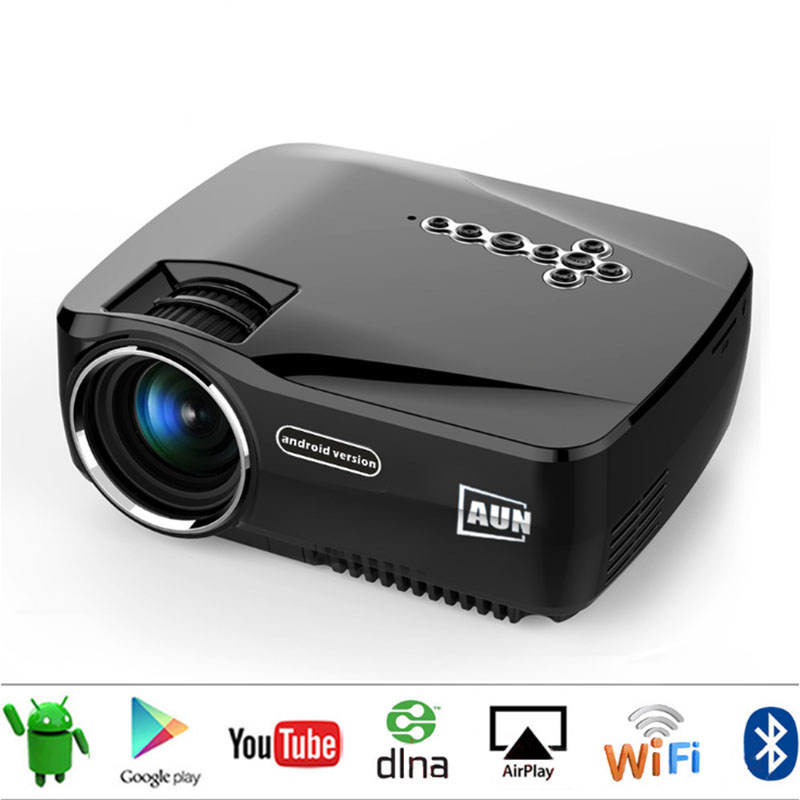Winait GP70UP 3D Android 4.4 <strong>Projector</strong> 1200 Lumens Support 1920x1080P Analog TV LED <strong>Projector</strong> Wifi <strong>Projector</strong> for Home Cinema