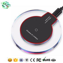 Hot selling products k9 universal qi wireless charger for iphone android phone transmitter pad inductive