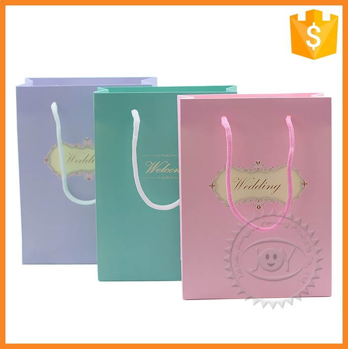 Custom logo foldable joy paper tote bags for shoping packaging