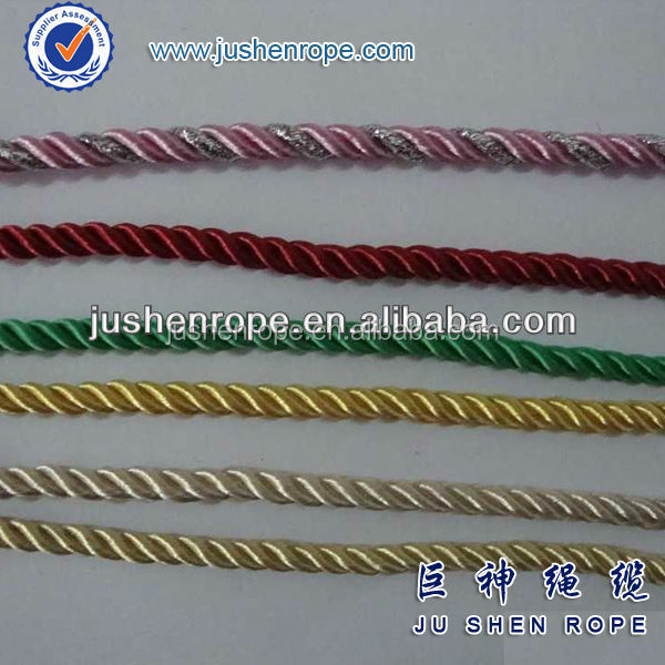 3 strands fluorescent nylon anchore rope high breaking strength
