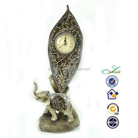 Resin ANTIQUE home table decorative elephant clock