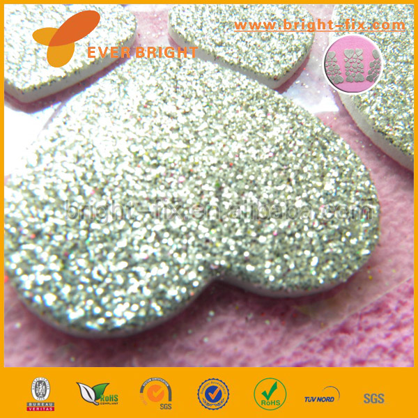 Toys Direct From China,Glitter Loving-hearts DIY Christmas EVA sticker,3D Kids Diy Eva Foam Sticker