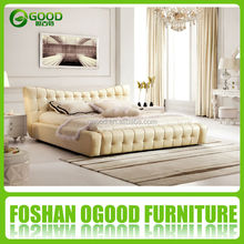Dubai Hotel Bedroom Furniture Leather Sofa Bed