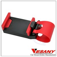 Vesany 2015 Brand new one handed operation OEM cell phone holder for car steering wheel
