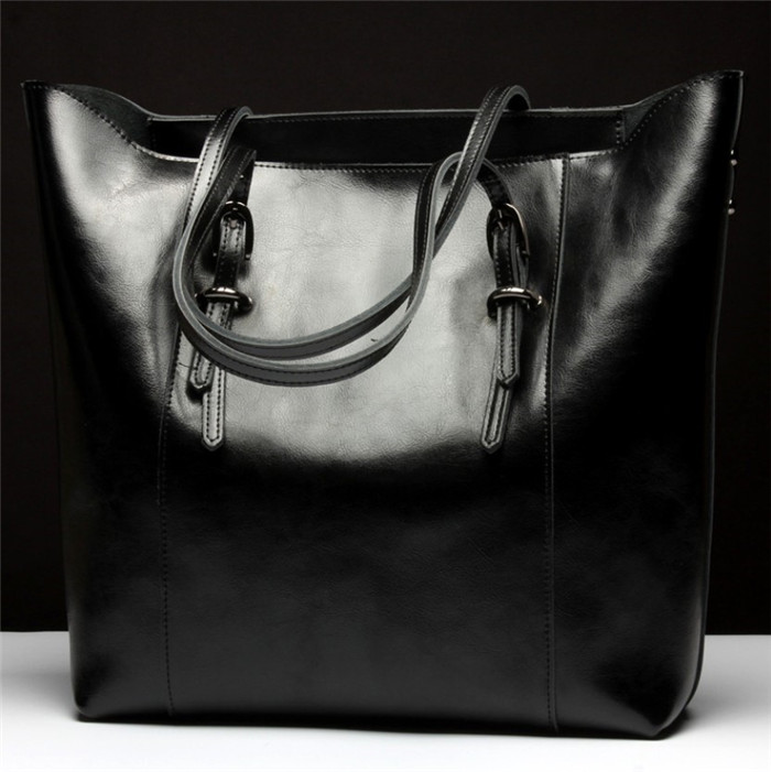 Fashion real leather tote bag for women lady handbags manufactures china_2