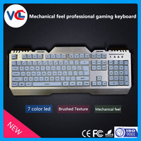 Computer gaming keyboard mechanical RGB metal keyboard