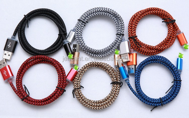2m /3m length 6feet /10feet metal braided usb data cable for iphone 5/6/7 metal braided cable