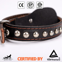 Wholesale Adjustable Peted Leather Dog Training Collar