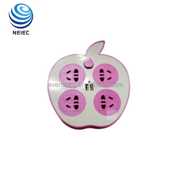 New arrival PS shell apple shaped extension socket