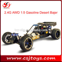 2016 hot selling toy 2.4G AWD 1:5 large Scale Gasoline RC Desert Bajer HSP nitro buggy