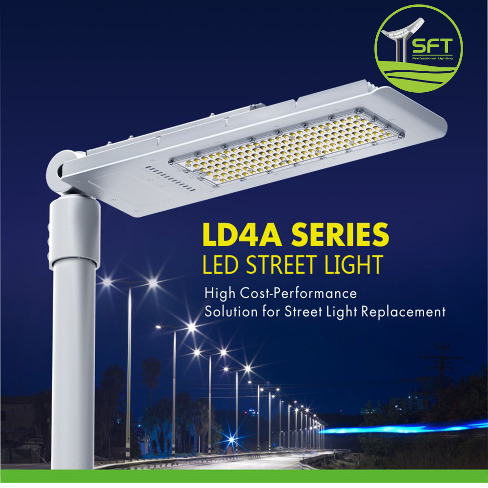 AC 85-265V or DC 12-24V 120W Quick Plug Type Led Solar Light for Street Illumination