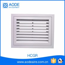 Aluminium chevron return air grille with removable vent filter for industrial ventilation grille, HCGR supply air diffuser