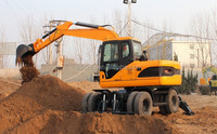 china sale excavator in asia12 ton 4x4 hydraulic transmission