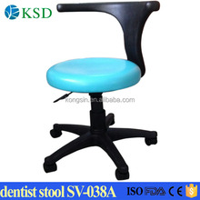 Blue pure and fresh feeling dental doctor chair,leather stool,dentist stool