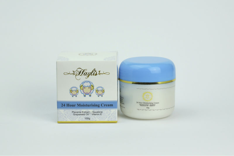 Haylis 24 Hr Moisturising Cream (100g) Placenta Extract, Squalene, Grape Seed Oil, Vitamin E (Made in Australia)