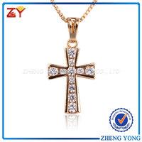 Christian cross pendant, Christian cross silver jewelry, Brass christian cross