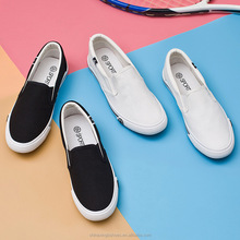 2017 new style lady canvas shoes and comfortable white canvas shoes whole sale shoes