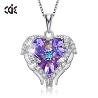 925 Sterling Silver Jewelry embellished with crystals from Swarovski Amethyst Pendant Necklace