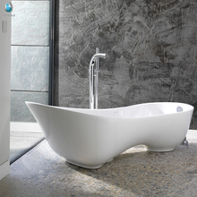 Pure acrylic banheira freestanding quarry stone bathtub for 2 person