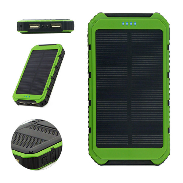 18000mAh Dual USB Solar Panel External Battery Charger For Mobile Phones Tablets