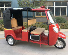 3 Wheel Gasoline Engine Driving Lite Passenger Motorcycle / 6 Seat Motorized Rickshaw Tricycle
