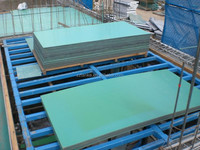 Plastic formwork panel for concrete plastic wall panels