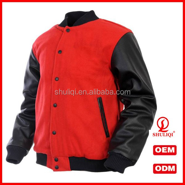 Your Own Custom Design Varsity Jackets leather sleeve With logos chenille patch