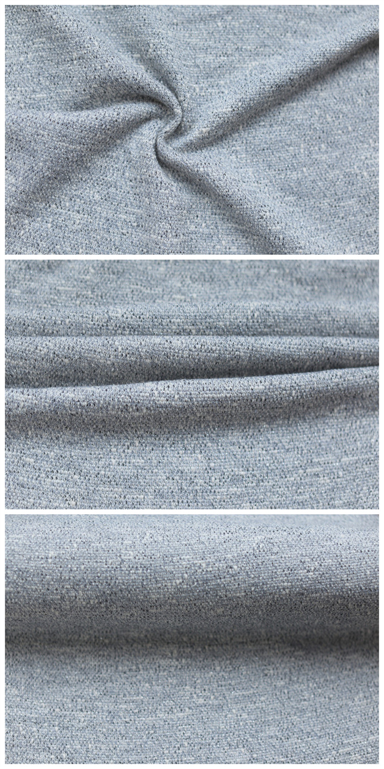 China Suppliers New Style Coarse Knitting Fabric Elastic Cotton Polyester Fabric