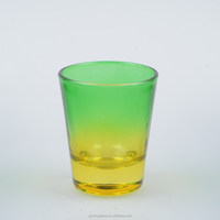 Most beautiful color glass frosted cup cheap glass cup from China near airport