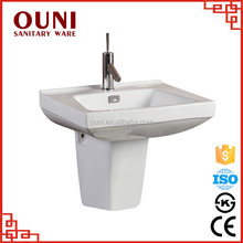 ON-518 Chaozhou colored half pedestal ceramic modern bathroom with low price