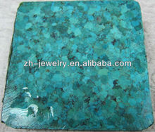 bule compressed turquoise rough material