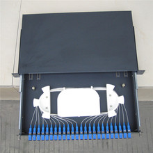 24 core sliding drawer type FIber optic patch panel