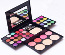 ADS 2018 new design purse shape multi-colored eye shadow and blusher makeup kit include eyeshadow palette