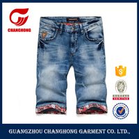 2016 jeans factory in guangzhou authentic jeans brand of short jeans men