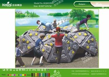 Kaiqi KQ60189D kids play games LLDPE plastic rock climbing for kindergarten,back yard,public park