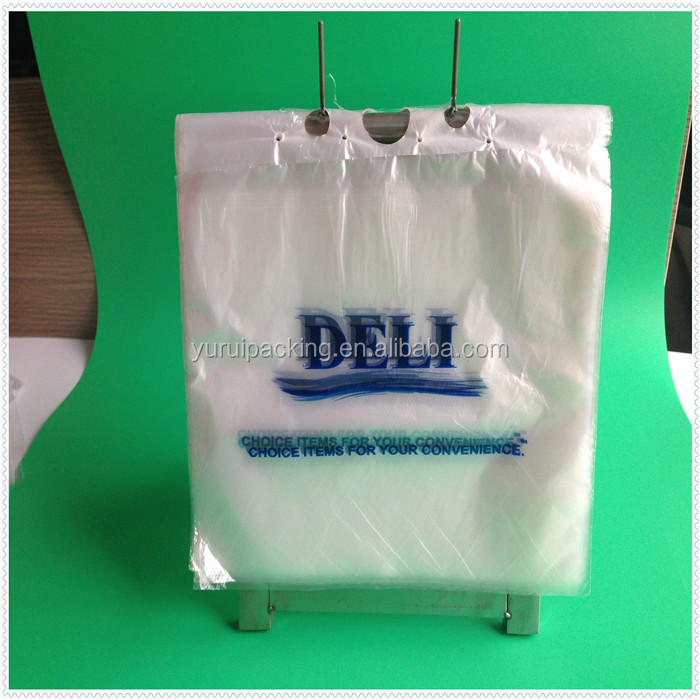 Reclosable Plastic ziplock saddle bag deli bag with Printed Logo for packing food
