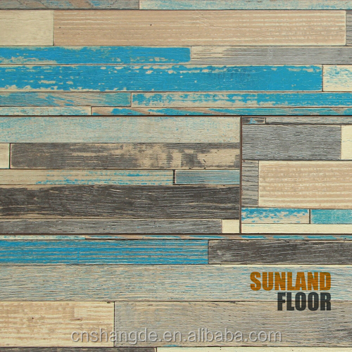 High Quality Blue HDF Water Resistant Laminater Flooring