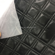 Black square pattern pvc sofa synthetic leather manufacturer 2016