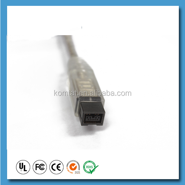 IEEE 1394 cable 9P data firewire with metal cover