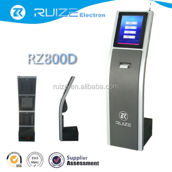 touch screen ticket dispenser kiosk automatic queue management system machine