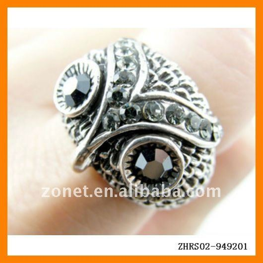 OWL Ring Shinning Eyebrow OWL Rings Jewelry ZHRS02-949201