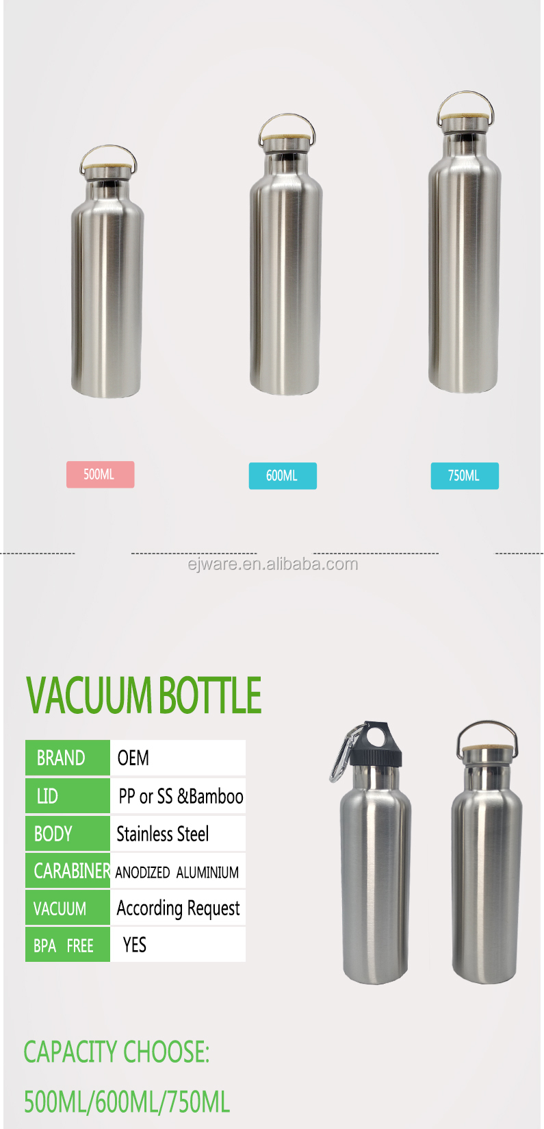 Fda Lfgb Wholesale Double Wall Stainless Steel Water Bottle/ Vaccum Flask/Tea Infuser Stainless Steel