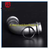 90 Degree Stainless Steel Pipe Elbow 304L