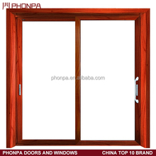 China factory cheap price of Interior sliding door aluminum alloy glass door