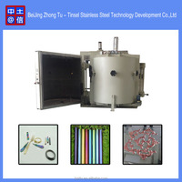 Evaporation plastic jewellry PVD ion vacuum coating machine