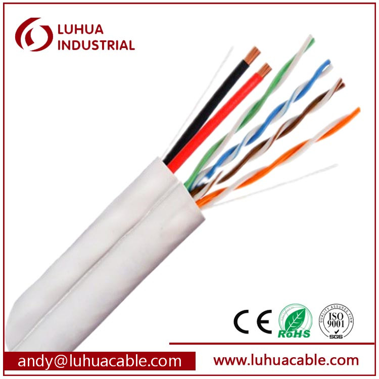 24AWG Outdoor UTP CAT5E+2C cable cat5e power CCTV cable